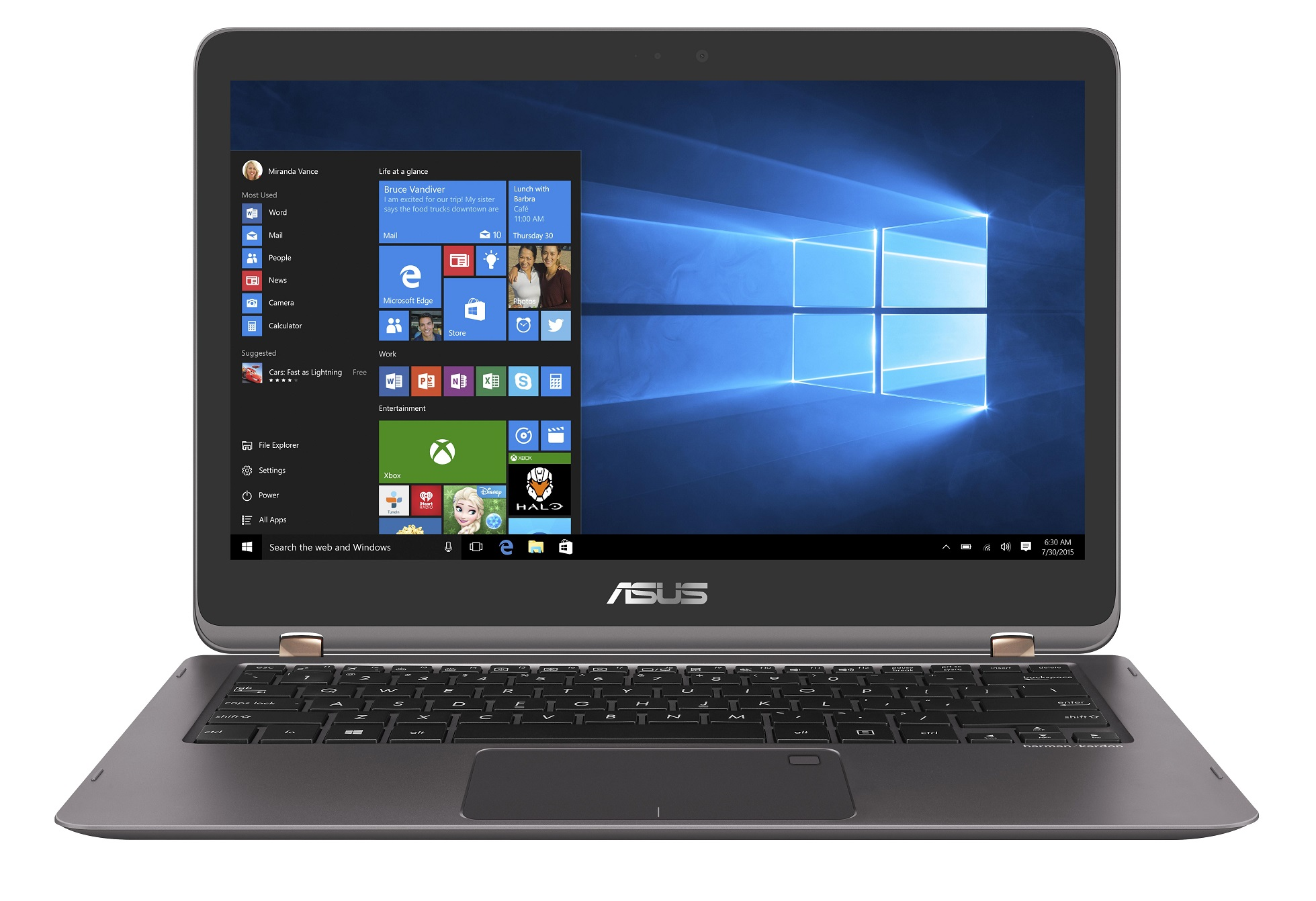 "ASUS UX360UAK-BB304T i5-7200U/8GB/256GB SSD M.2/HD graphics/13.3"" FHD Touch LED matný/W10 Home/Grey"