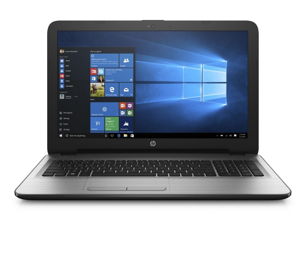HP 250 G5 15.6 HD/N3060/4GB/500G/DVD/HDMI/VGA/RJ45/WIFI/BT/MCR/1RServis/W10