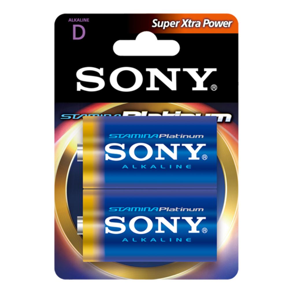 "SONY AM1PT-B2D Alkalická baterie ""STAMINA PLATINUM"" - LR20/D 1,5V - 2 ks v balení Eco Pack"