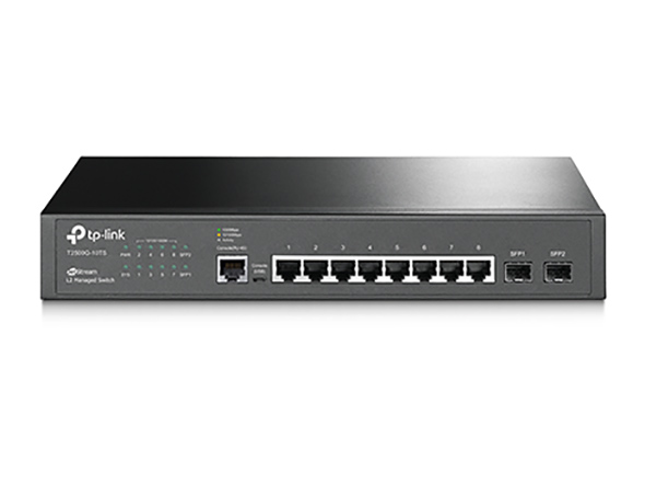 TP-Link T2500G-10TS 10port JetStream L2 Managed Switch, 8x 10/100/1000 + 2x SFP