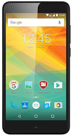 """PRESTIGIO Grace S7,5.5""""IPS 2.5D,Asahi,DualSIM,Android 7,QC 1,25GHz, 1280*720, 16GB ROM,2GB RAM,13+8Mpx,LTE,5000mAh,černý"""