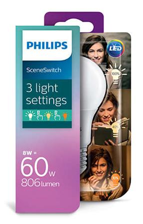 PHILIPS LED SSW 60W A60 E27 WW FR ND 1BC/4