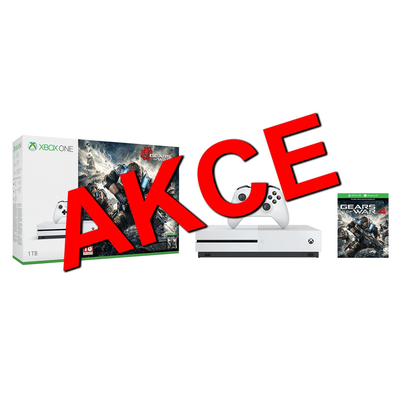 XBOX ONE S 1 TB + 1 x hra (Gears of War 4) - akční výprodej