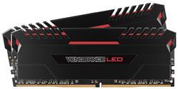 Corsair DDR4 16GB (Kit 2x8GB) Vengeance LED DIMM 3000MHz CL15 černo-červená