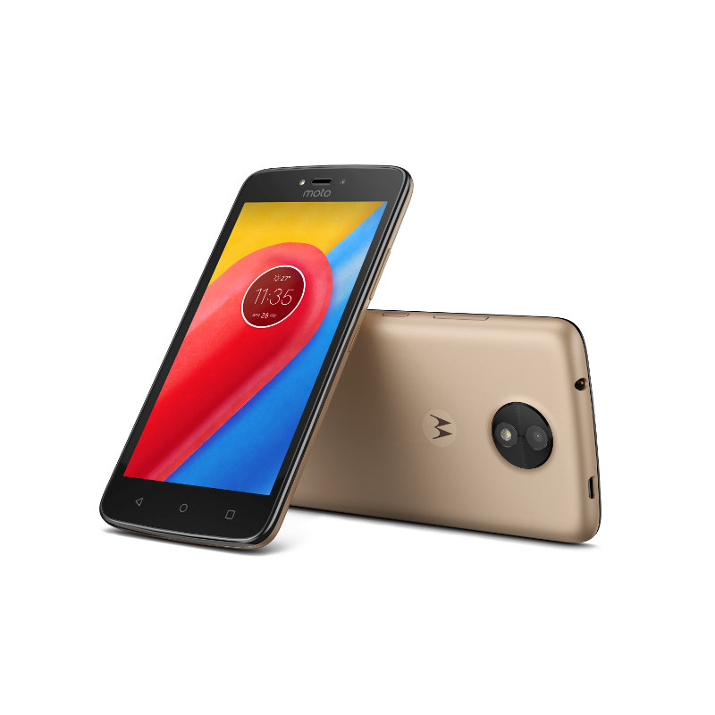 "Motorola Moto C Dual SIM/5"" TN/854x480/Quad-Core/1,1GHz/1GB/16GB/5Mpx/LTE/Android 7.0/Fine Gold"