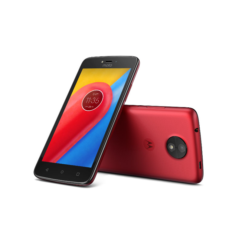 "Motorola Moto C Dual SIM/5"" TN/854x480/Quad-Core/1,1GHz/1GB/16GB/5Mpx/LTE/Android 7.0/Metallic Cherry"
