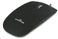 MANHATTAN Myš Silhouette USB optická, černá