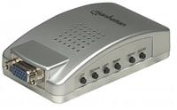MANHATTAN Adaptér PC - TV (video převodník VGA/RCA + S-video + VGA)