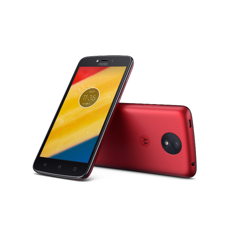 "Motorola Moto C Plus Dual SIM/5"" IPS/1280x720/Quad-Core/1,3GHz/1GB/16GB/8Mpx/LTE/Android 7.0/Metallic Cherry"