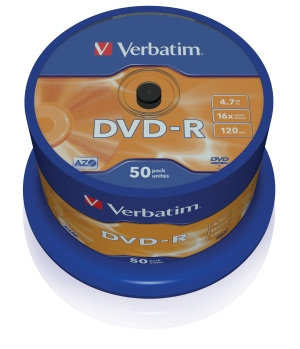 VERBATIM DVD-R(50-Pack)Spindle/General Retail/16x/4.7GB