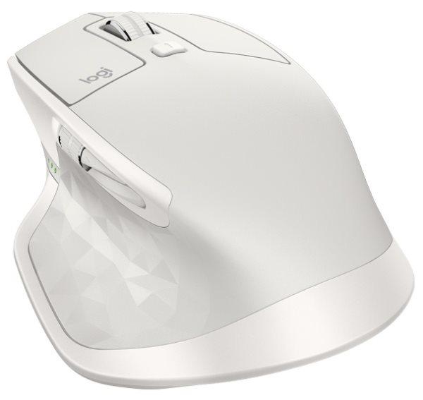 Logitech myš MX Master 2S, darkfield, laserová, 7 tlačítek, light gray