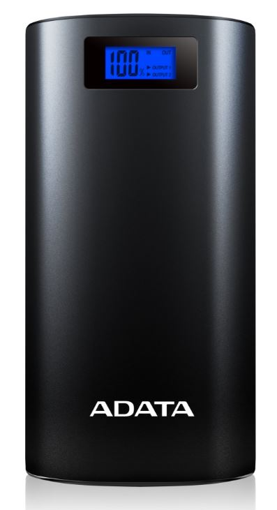 ADATA PowerBank P20000D - externí baterie pro mobil/tablet 20000mAh, 2,1A, černá