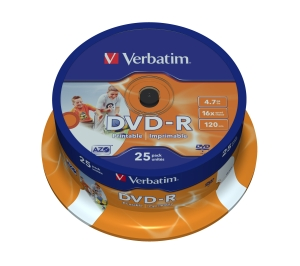VERBATIM DVD-R(25-Pack)Spindl/Printable/16x/4.7GB