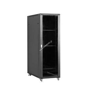 Linkbasic stojící skříně 19'' 42U 600x1000mm - černá (prosklené dveře)
