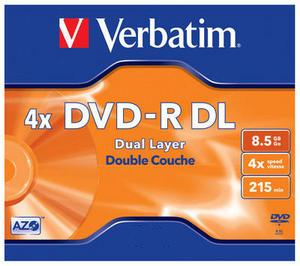 VERBATIM DVD-R(5-pack)DualLayer/Jewel/4x/8,5GB