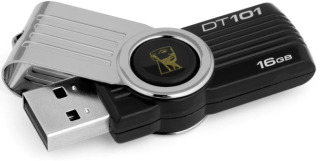 Kingston 16GB DataTraveler DT101 Gen 2 (USB 2.0) - černý
