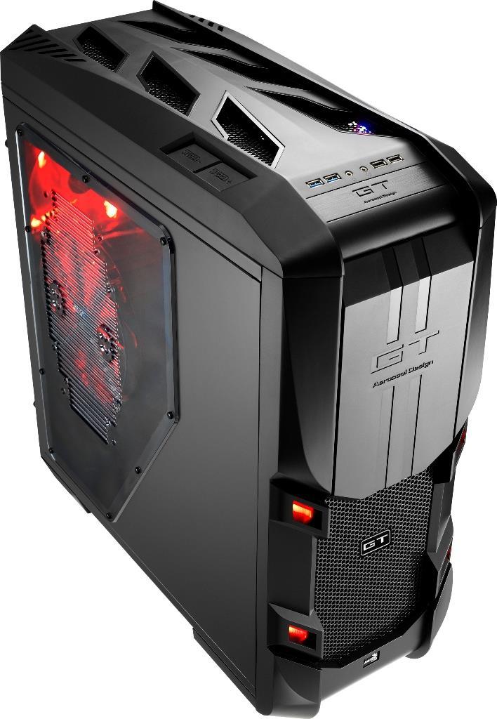 PC skříň Aerocool ATX GT-S BLACK EDITION, USB 3.0, bez zdroje