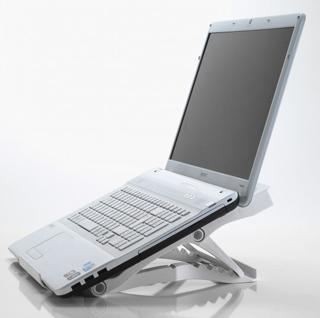 Exponent World Portable Ergo nastavitelný stojan pod notebook, bílý