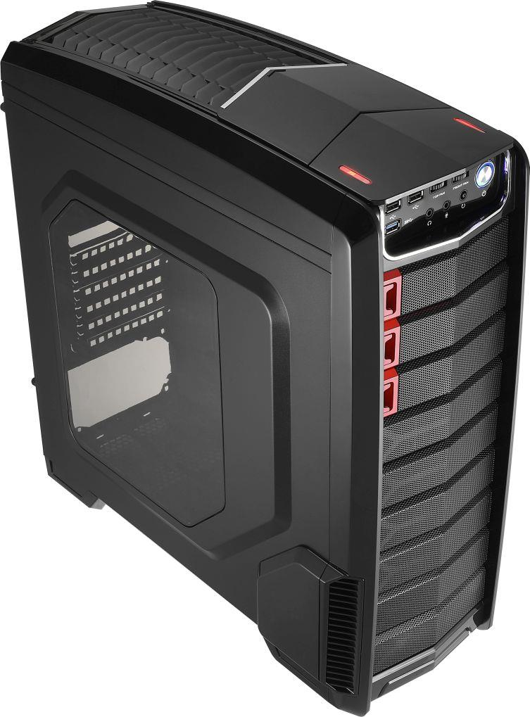 PC skříň Aerocool ATX GT-A BLACK, USB 3.0, bez zdroje