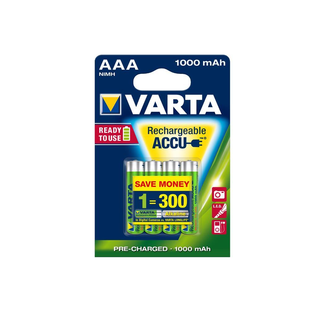 VARTA Batteries R3 1000 mAh 4pcs ready 2 use