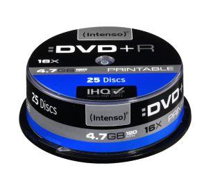 DVD+R Intenso [cake box 25|4.7GB|16x| Printable| Extra Fine Matt | Fullface]