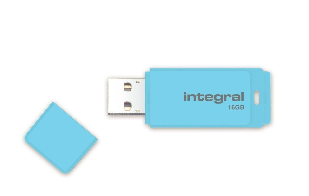 INTEGRAL Pastel 16GB USB 2.0 flashdisk, Blue Sky