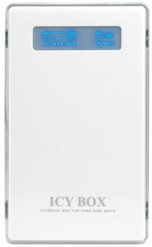 Icy Box External 2,5'' IDE HDD Case, USB 2.0, White