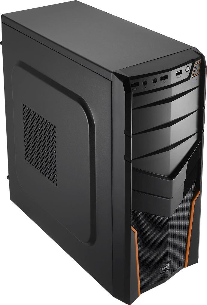 PC skříň Aerocool ATX PGS V2X BLACK / ORANGE, USB 3.0, bez zdroje