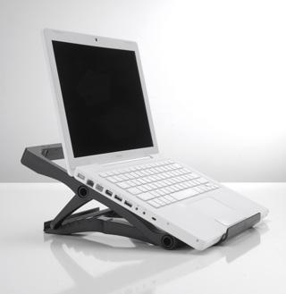 Exponent World Portable Ergo nastavitelný stojan pod notebook, černý
