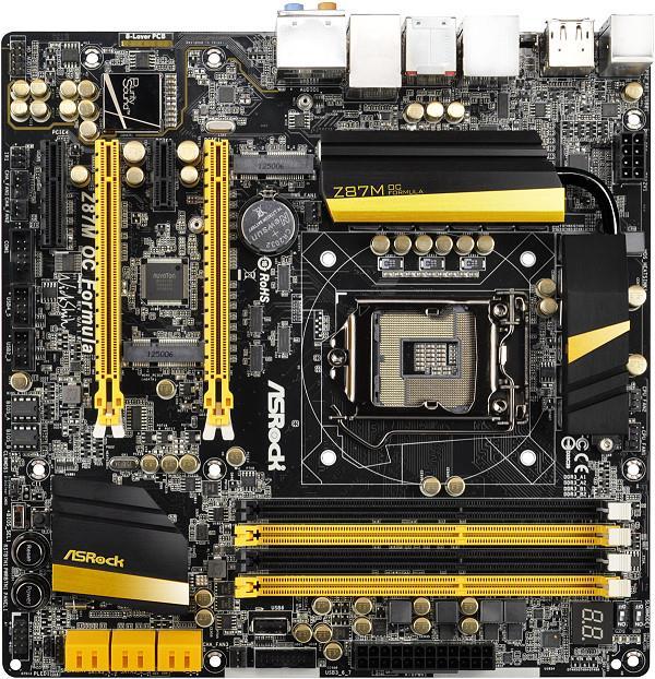 ASRock Z87M OC FORMULA, Z87, DualDDR3-1600, SATA3, GBLAN, RAID, mATX