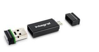 INTEGRAL Fusion 16GB USB 2.0 flashdisk + Adaptér, retail