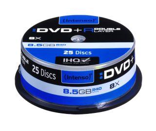 DVD+R DL DoubleLayer Intenso [ cakebox 25 | 8,5GB | 8x ]
