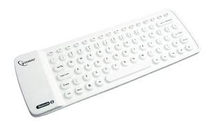 Gembird elastická silikonová mini klávesnice Bluetooth, USB, US, bílá