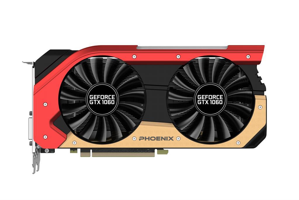 Gainward GeForce GTX 1060 Phoenix, 6GB GDDR5 (192 Bit), HDMI, DVI, 3xDP