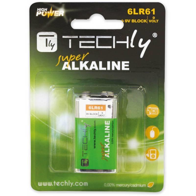 Techly alkalická baterie 9V 6LR61 PP3 1 ks