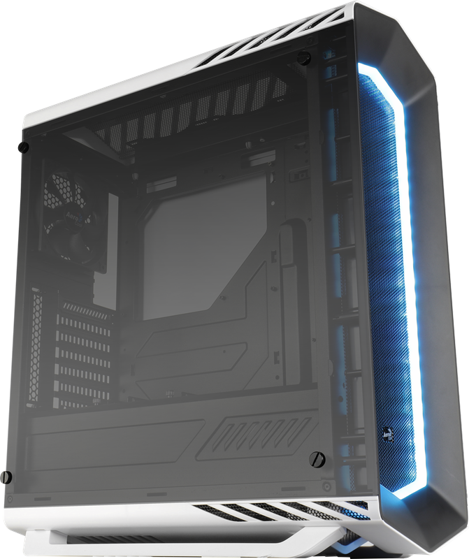 PC skříň Aerocool ATX P7 C1 WHITE TEMPERED GLASS, USB 3.0, bez zdroje