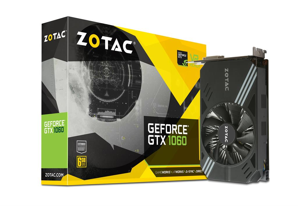 ZOTAC GeForce GTX 1060 Mini, 6GB GDDR5 (192 Bit), HDMI, DVI, 3xDP, RETAIL