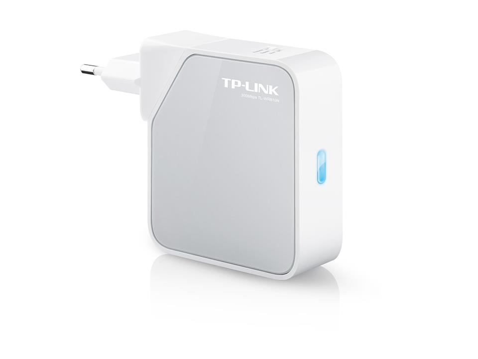 TP-Link TL-WR810N Wireless 802.11n/300Mbps Nano AP Router/TV Adapter/ Repeater