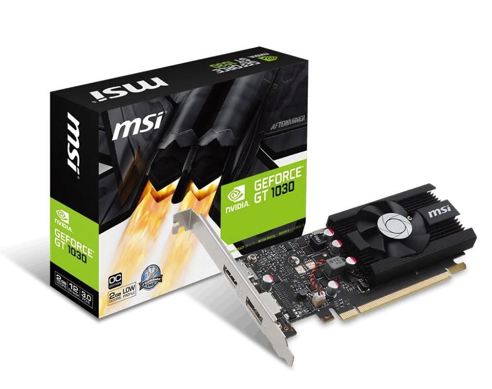 MSI GeForce GT 1030 2G LP, 2GB, DP/HDMI/LP/FAN
