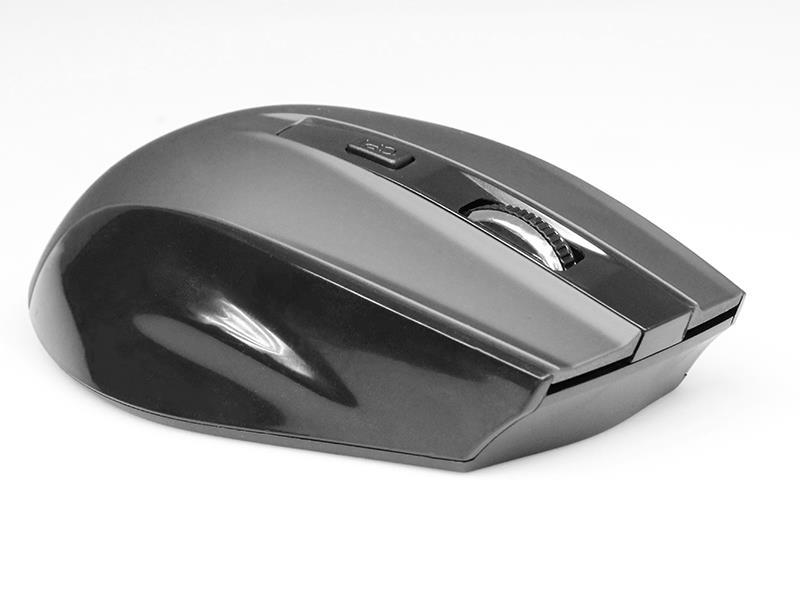 Media-Tech OFFICE ERGO bezdrátová optická myš 2.4GHz, 1600 cpi, 5 tlač., černá
