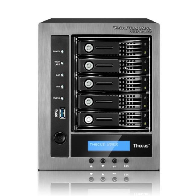 Thecus 5-Bay tower WSS NAS, SATA, Celeron QC J1900 2GHz 4GB 2xGE