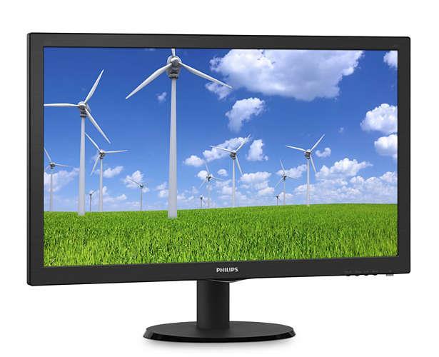 Monitor Philips 243S5LSB5/00, 24inch, TN, Full HD, DVI/D-Sub