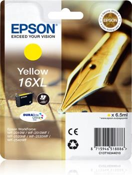 Inkoust Epson T1634 XL yellow DURABrite | 6,5 ml | WF-2010/25x0