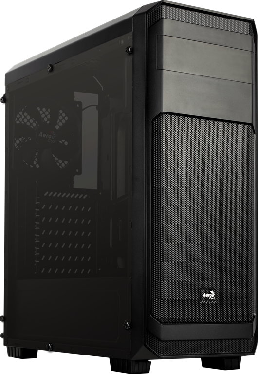 PC skříň Aerocool ATX AERO-300 BLACK FAW Window, USB 3.0,bez zdroje