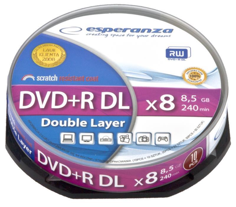 Esperanza DVD+R Double Layer [ cake box 10   8,5 GB   8x ]