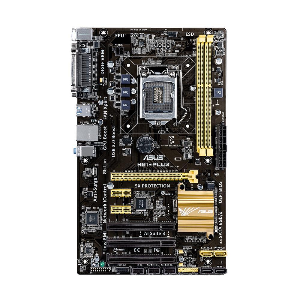 ASUS H81-PLUS, H81, DualDDR3-1600, SATA3, ATX