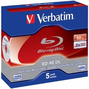 Verbatim Blu-ray BD-RE Dual Layer [ jewel case 5 | 50GB | 2x | HARD COAT ]