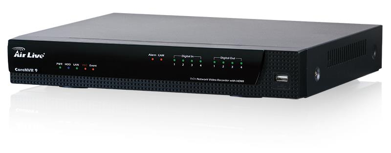 AirLive Network Video Recorder 9CH up to 5M , HDMI/VGA, ONVIF, up to 6TB