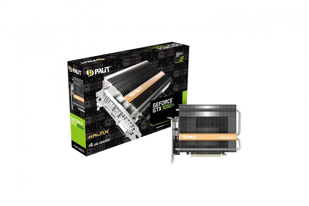 PALIT GeForce GTX 1050 Ti KalmX, 4GB, GDDR5, 128bit, DP, HDMI, Dual-link DVI