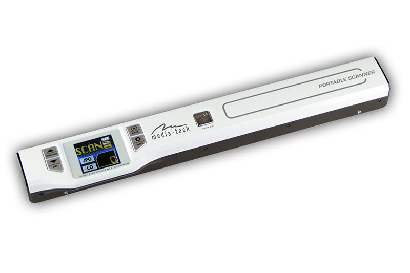 SCANLINE NET - Portable color scanner with WIFI for A4 and smaller documents,